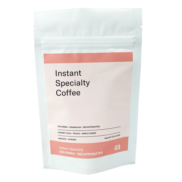 Instant Specialty - 40g Pouch - Colombia Decaffeinated - Front - On Transparent - 800